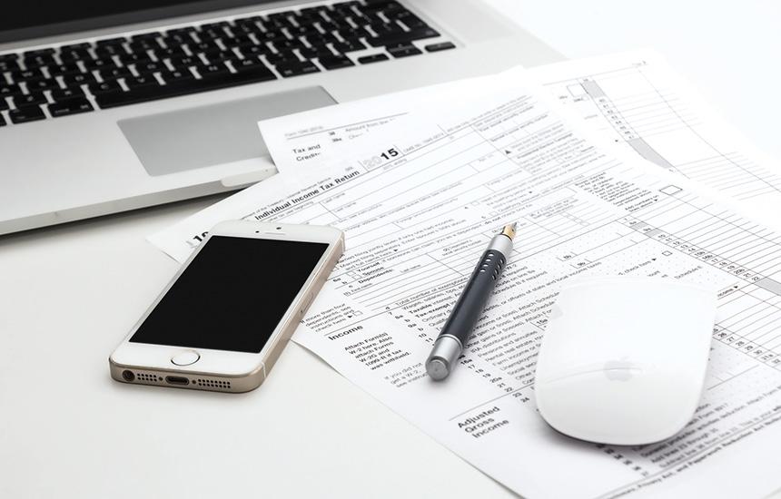 Dados de contabilidade no notebook